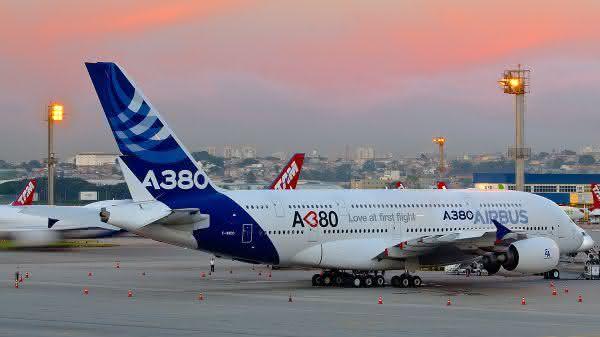 Airbus A380 entre os avioes de passageiros comerciais mais rapidos do mundo