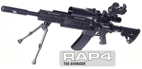 RAP4 T68 Avenger entre as armas de paintball mais caras do mundo