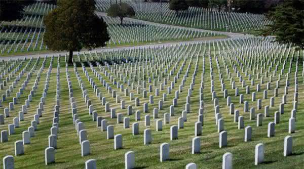 Calverton National Cemetery entre os maiores cemiterios do mundo