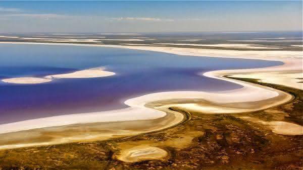 Lake Eyre entre os pontos de terra mais baixos do mundo