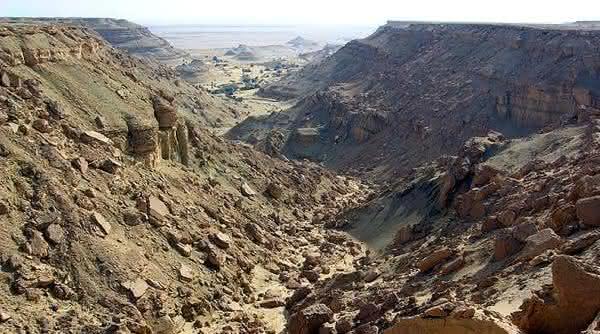 depression Qattara entre os pontos de terra mais baixos do mundo
