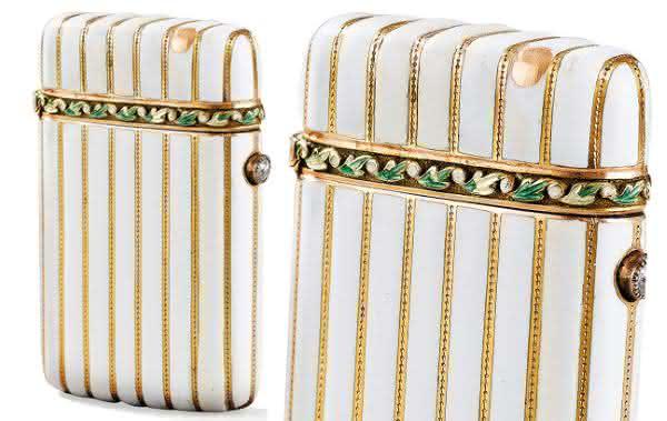 Faberge Jeweled and White Enameled Lighter entre os isqueiros mais caros do mundo