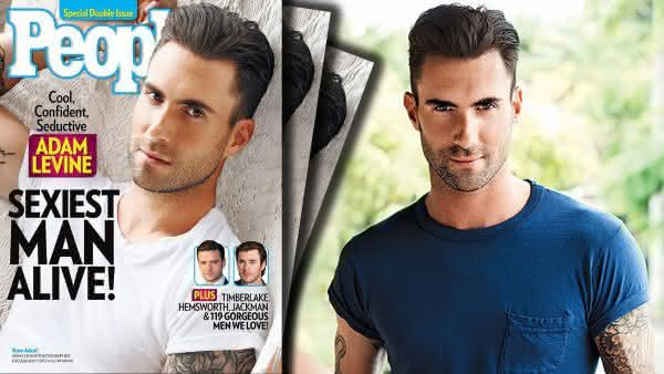 Adam Levine entre os homens mais sexy dos ultimos 10 anos