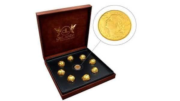 Delafee Edible Gold Creations chocoloate mais caro do mundo