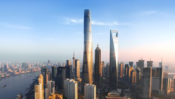 Shanghai Tower entre as torres mais altas do mundo
