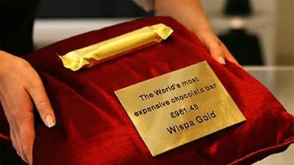 Wispa Gold Wrapped Chocolate entre os chocoloates mais caros do mundo