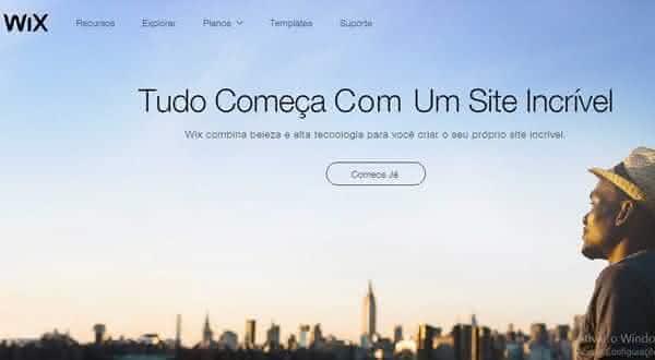 wix entre os melhores sites para criar um site ou blog de graca