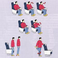 3 Ejercicios durante viaje en avión