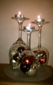 copas y bolas navideñas, juntas