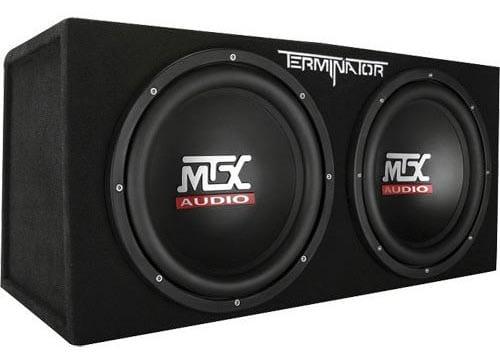 MTX Audio Terminator Series TNE212D 1,200-Watt Dual 12-Inch Sub-Enclosure