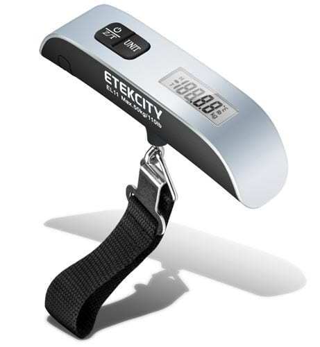 Etekcity-Digital-Hanging-Postal-Luggage-Scale,-Rubber-Paint-Technology,-Temperature-Sensor,-110lb-50kg,-Silver-Black