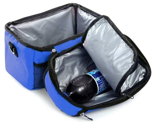 Holiberty-Oxford-Cloth-Family-Travel-BBQ-Camping-Picnic-Lunch-Insulated-Cooler-Cool-Ice-Tote-Bag-For-Food,Drink-Cans,-Big-Bottles,-Wine-8L-Large-Capacity-Waterproof-Fresh-Ice-Pack-Insulation-Package-Blue