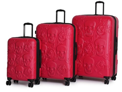 IT-Luggage-Duraliton-Skulls-and-Roses-3-Piece-Set