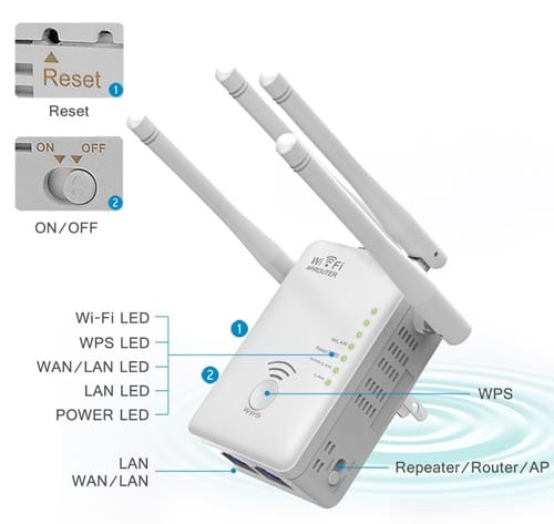 Motoraux-1200Mbps-WiFi-Range-Extender-Support-Wifi-Repeater,AP-And-Wifi-Router-with-Four-Antennas