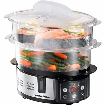 New---Digital-2-Tier-Food-Steamer-by-Hamilton-Beach
