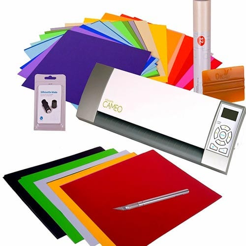 Silhouette-Cameo-Digital-Craft-Cutter-Machine-Ultimate-Bundle---Accessories,-Vinyl-Supplies-Application-Tools