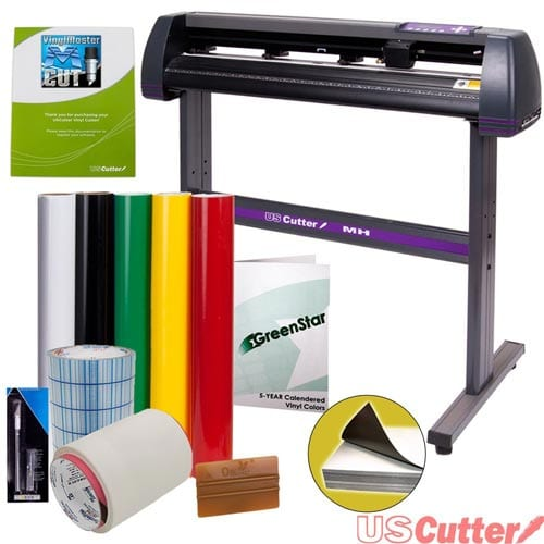Vinyl-Cutter-USCutter-MH-34in-BUNDLE---Sign-Making-Kit-w-Design-&-Cut-Software,-Supplies-Tools