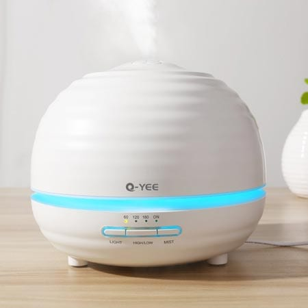 Q-YEE-300ml-Ultrasonic-aroma-diffuser-Cool-Mist-Air-Humidifier--with-7-Color-LED-Lights-Changing-and-Waterless-Auto-Shut-off-Function-Timing-function-for-Home-Office-Bedroom-Room