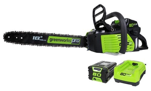 GreenWorks-GCS80420-80V-18-Inch-Cordless-Chainsaw-includes-2.0AH-Li-Ion-Battery-and-Charger