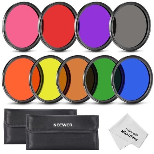 Neewer-58MM-Complete-Full-Color-Lens-Filter-Set-(9pcs)-for-Camera-Lens-with-58MM-Filter