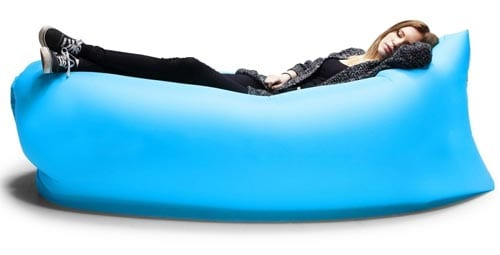 Outdoor-Inflatable-Couch-Camping-Furniture-Sleeping-Compression-Air-Bag-Lounger-Hangout-Nylon-Fabric-Blue-Black-330-440lb-Bearing-78-inches-(Blue)