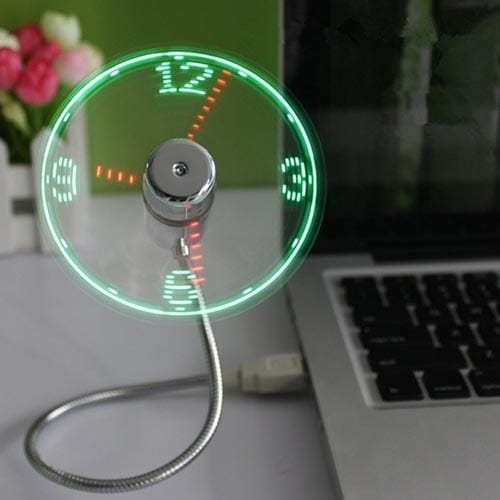 TAKSON-Portable-Mini-USB-LED-Clock-Fan-Cooler-with-Real-Time-Display-Function-for-Desktop-Computers-and-Laptops-for-home-and-office-for-gift