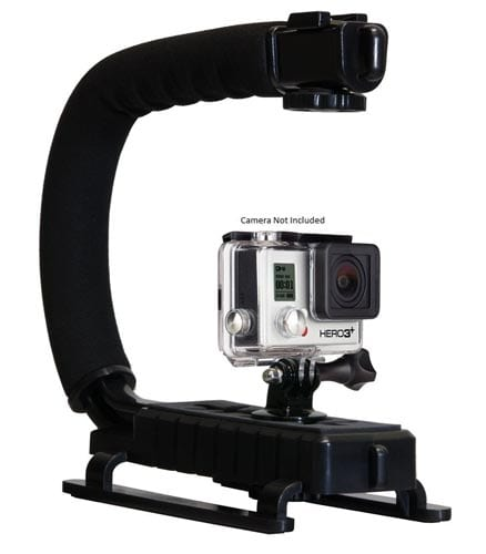 Opteka-X-GRIP-Professional-Action-Stabilizing-Handle-Specifically-Made-for-GoPro-HD-Hero4,-Hero3+-and-Hero3-with-Accessory-Shoe-for-Flash,-Mic,-or-Video-Light-(Black)