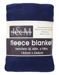 8. J & M Home Fashions 60-Inch by 96-Inch Fleece Blanket