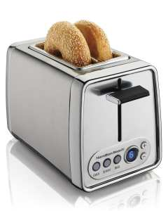 9. Hamilton Beach 22792 Modern Chrome 2-Slice Toaster, Silver