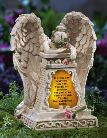 4.Collections Solar Lighted Weeping Angel Garden Memorial