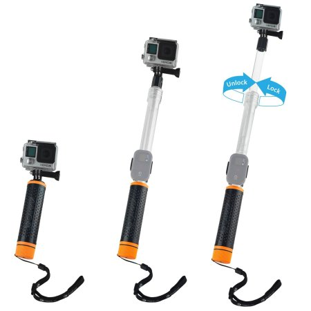 2.Waterproof Telescopic Pole and Floating Hand Grip in one