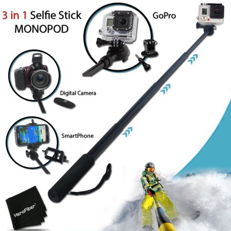 8.The Best Waterproof Selfie Stick for GoPro Review 2016