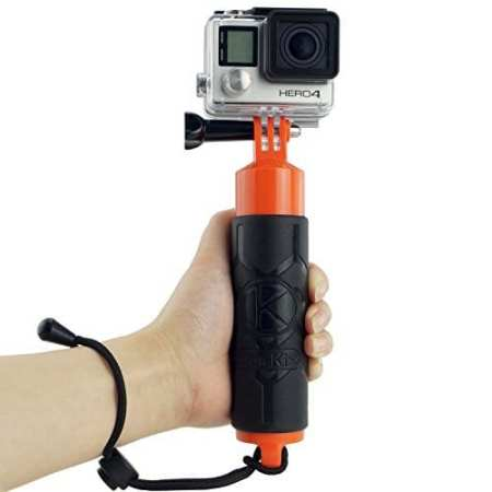 9.CamKix Premium Floating Hand Grip for Gopro Hero 4