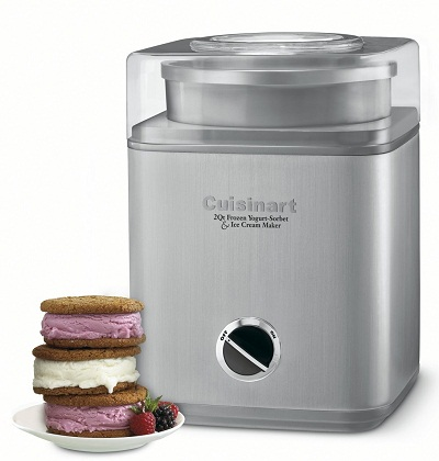 1. Cuisinart ICE-30BC Pure Indulgence 2-Quart Automatic Frozen Yogurt, Sorbet, and Ice Cream Maker
