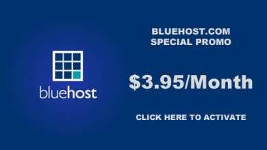 بلوهوست Bluehost : كوبون خصم استضافة 50% 1