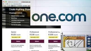 كوبون استضافة One.com