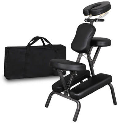 Portable Lightweight Massage Chair With Leather Pad Travel Massage Tattoo