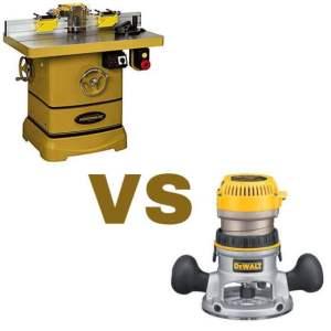 wood shaper vs router