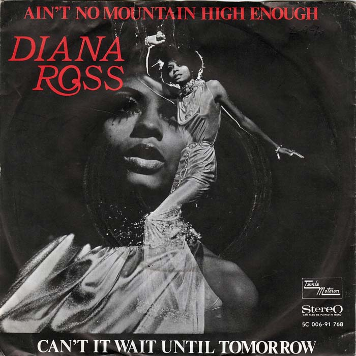 Diana Ross - Ain't No Mountain High Enough record cover