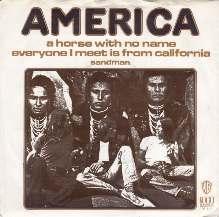 A HORSE WITH NO NAME - America record cover