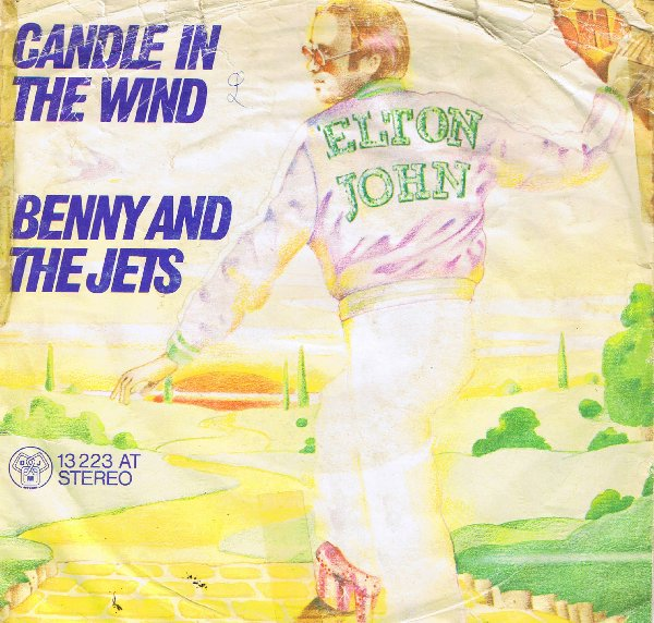 BENNIE AND THE JETS - Elton John record cover