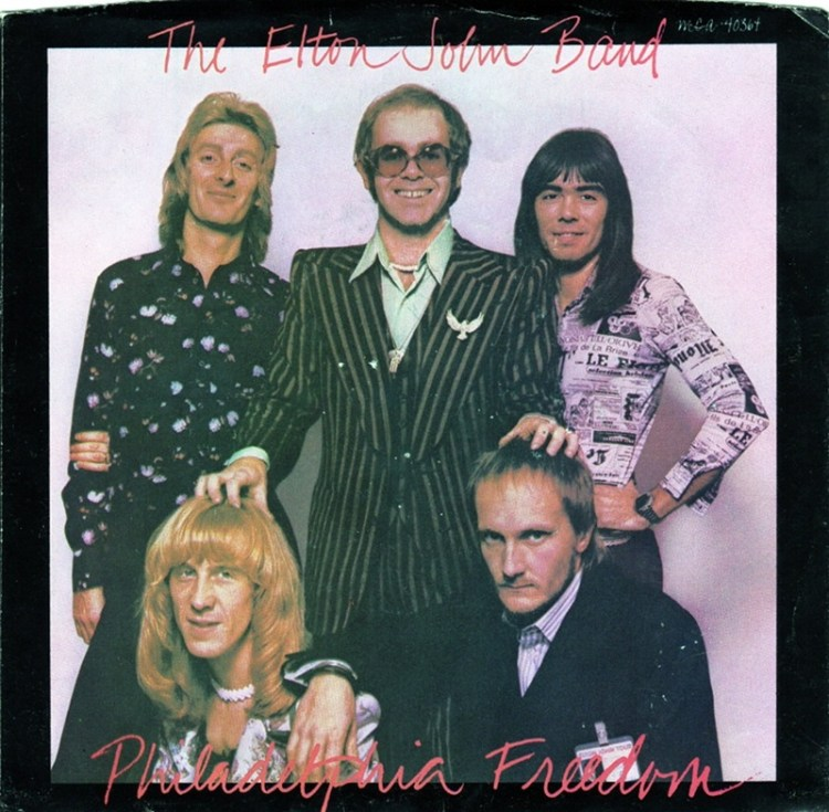 PHILADELPHIA FREEDOM - The Elton John Band record cover