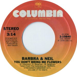 barbra-and-neil-you-dont-bring-me-flowers-columbia