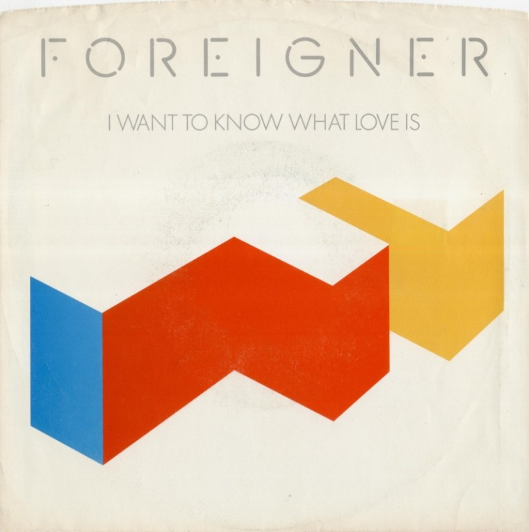 Foreigner I Want to Know What Love Is record cover 1984