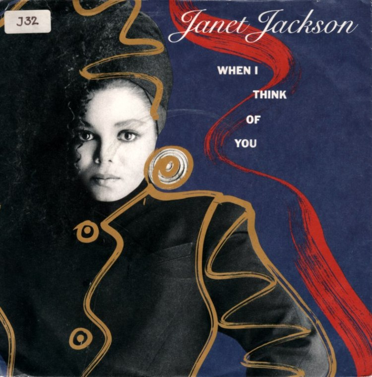 Janet Jackson When I Think of You I Am record cover