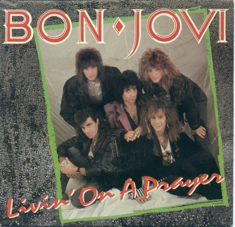 Bon Jovi Living on a Prayer record cover