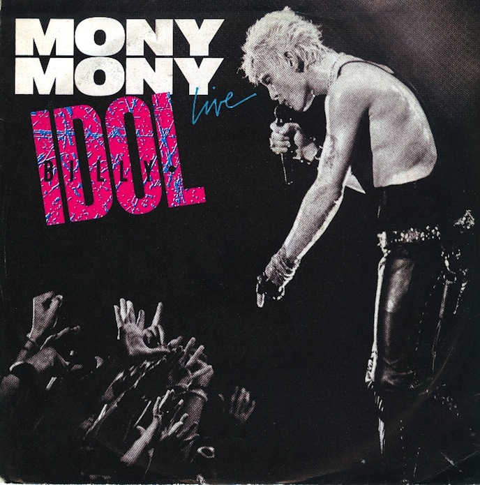 Billy Idol Mony Mony Live Chrysalis record cover