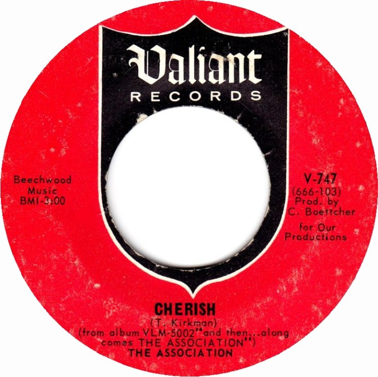 The Association - Cherish 7-inch label