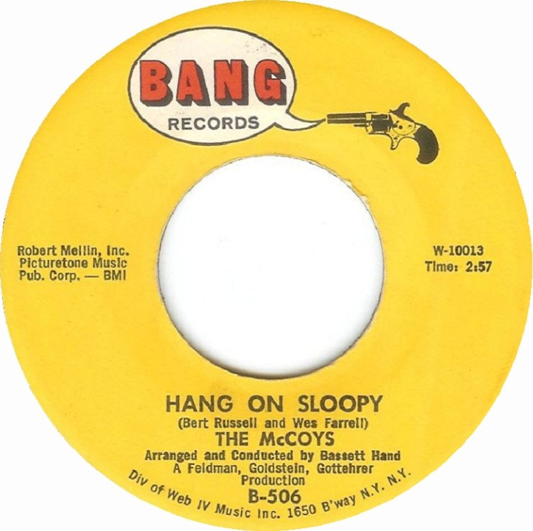 The McCoys - Hang on Sloopy 7-inch label