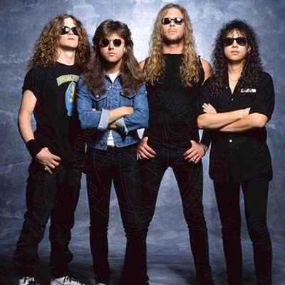 Metallica posing circa 1989